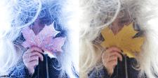 Художественная обработка фото в зимнем стиле
