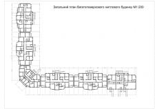План многоэтажного секционного дома