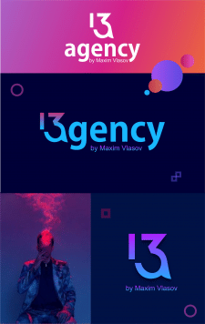 Креативный логотип 13а
