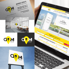 AIM Group - логотип для рекламного агентства
