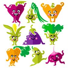 Дитячі персонажі-овочі