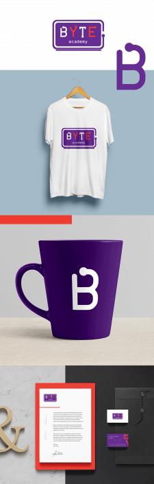 логотип и фирменный стиль для компьютерной академи