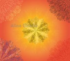orange mandala background