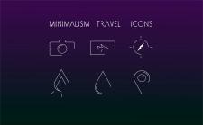 minimalism travel icons