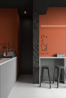 Дизайн небольшой кофейни