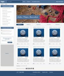 Дизайн-макет главной страницы сайта  по рукоделию