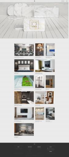 Сайт студии дизайна интерьеров, г. Днепр