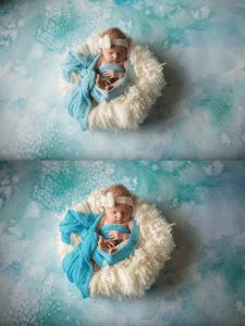 Обработка фото новорожденного