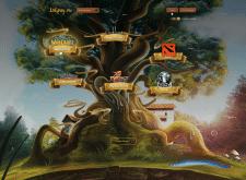 Дизайн главной страницы для игр