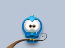 Мультяшная птичка