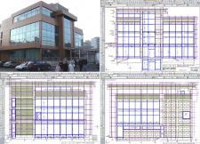 Остекление и вентилируемый фасад здания.