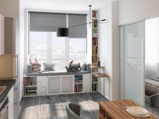 дизайн-проект интерьеров квартиры в г.Киев