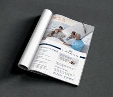 Чистый макет страницы в развороте журнала