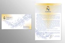 Дизайн комплекта конверт и бланк письма