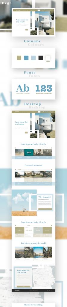 Дизайн лендинга по продаже недвижимости