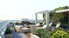 Ландшафт на крыше здания (эскиз)