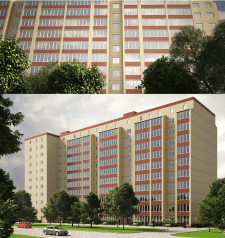 Визуализация многоэтажного дома