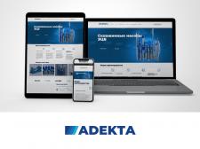 Разработка сайта для компании Adekta