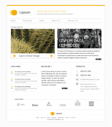 Lipsum сайт под Wordpress