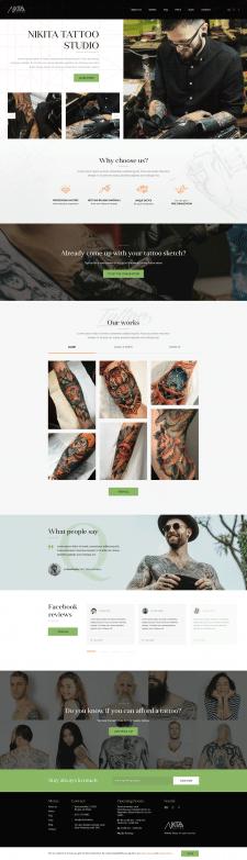 Сайт студии тату - Nikita Tatoo