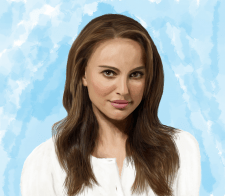 "Цифровая живопись портрет ""Натали Портман"""