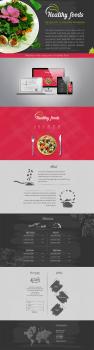 Website of the restaurant of healthy food (2015)