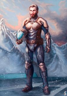 Sci-fi Explorer. Character Concept Art.