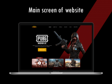 Main screen of website for game PUBG