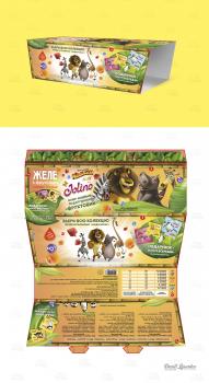 Дизайн промопака для трех упаковок баночек желе.