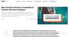 Teacher Brochure Templates & Teacher Brochure