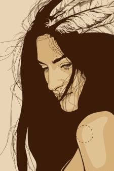 Рисунок девушка