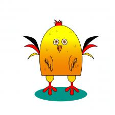 мультяшная курица