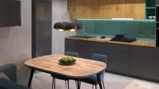 Дизайн-проект квартири у Вінниці. Кухня-вітальня