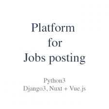 Platform for Jobs posting