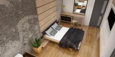Дизайн интерьера маленькой спальной\гостинной