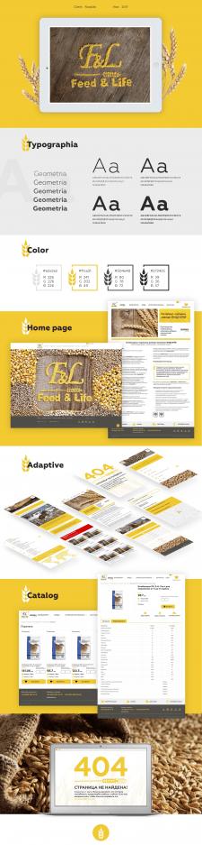 Дизайн интернет-магазина Feed&Life