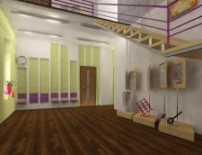 Проект інтер'єру дитячої художньої школи