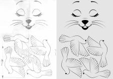 Обрисовка эскиза в иллюстраторе