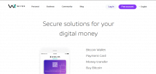 Сайт для приложения Wirex