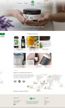 Сайт на modx evolution- фирма из Латвии