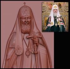 Портрет по фото, патреарх Кирил