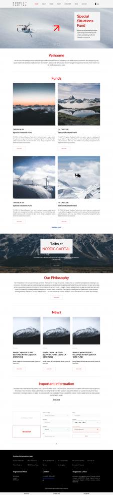 Создание сайта для инвестиционной компании