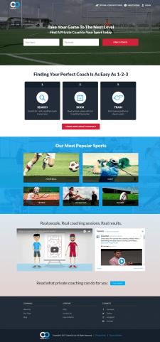 CoachOut - интернет сервис в сфере спорта.