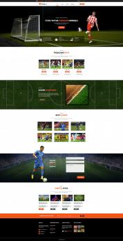Тестовый дизайн про Футбол