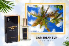 Баннер для сайта. Мужской парфюм Caribbean Sun