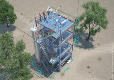 3d модель битумной установки