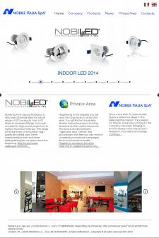 дизайн сайта визитки компании НОБИЛИ италия