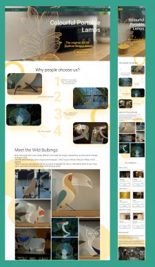 Дизайн landing page для  Wild Bulbing