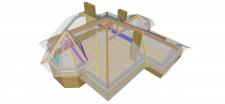 Схема несущих элементов покрытия (концепция 1)
