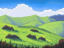 Hills( фон к игре)